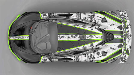 new replica livery design for the McLaren P1 GTR by whendt