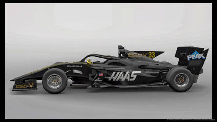 My Haas f1 livery design by whendt