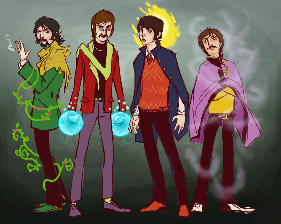 Beatles Superheroes by lorainesammy