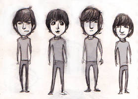 Beatles sketch by lorainesammy