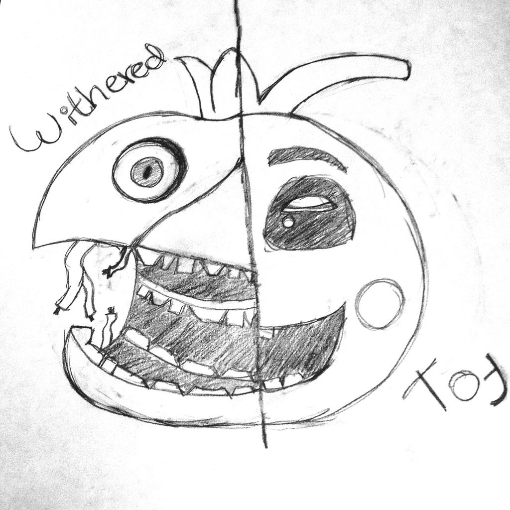 Fnaf 2 Drawings withered - toy chica fnaf 2 sketchi-came-for-fnaf on