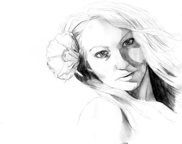 Portrait - Flower in Hair