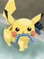 Pikachu - Caught in the Act by roddz-art