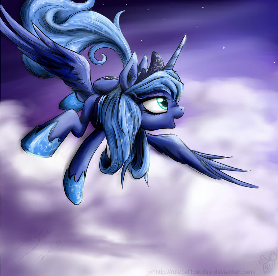 Moon pony by rule1of1coldfire