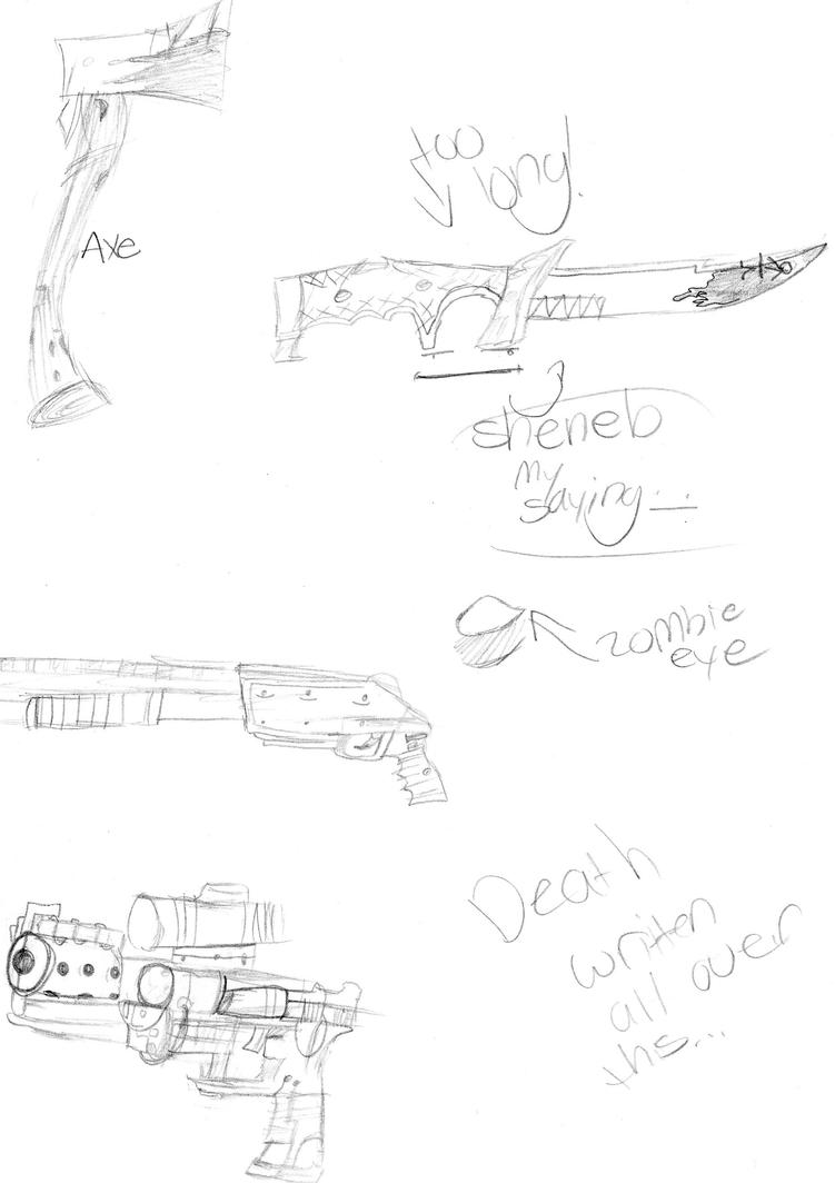Weapons by AwesomeMunchies