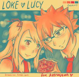 Loke x Lucy for Astrayeah by braverose