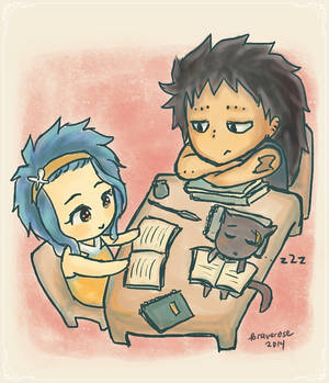 levy, gajeel, and lily