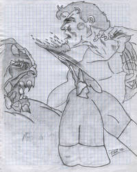 Kal vs Doomsday - Pavelverner by kryptonian-fan