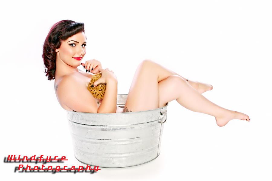 Kahla in the Washtub #5 by SkipM