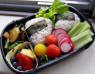 Onigiri with Celery Garnish by LadySiha