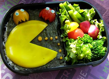Pac-Man Challenge Bento by LadySiha