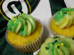 Packer Party Cupcakes