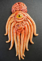Mutant Dalek polymer clay pendant by dogzillalives