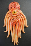 Mutant Dalek polymer clay pendant