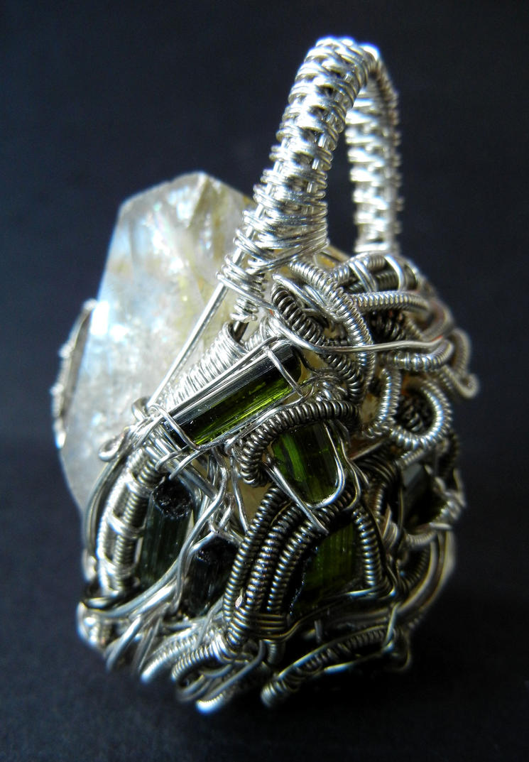 Herkimer and tourmaline wire wrapped pendant by dogzillalives on herkimer and tourmaline wire wrapped pendant by dogzillalives aloadofball Gallery