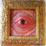 Framed eye repainted