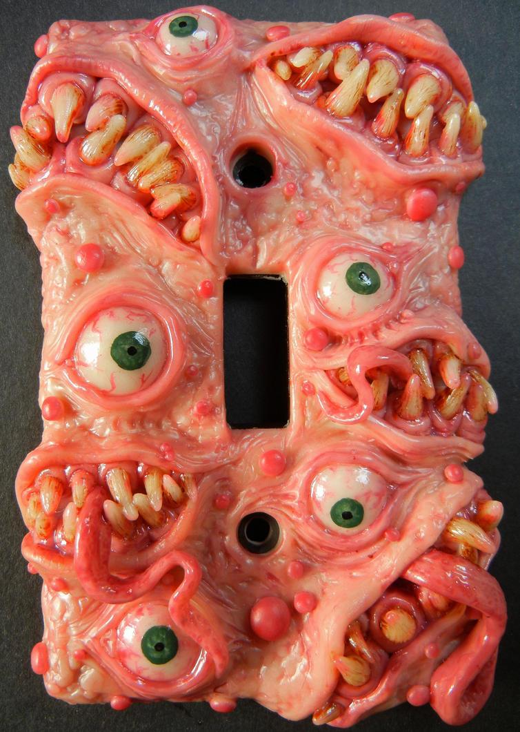Monster switchplate by dogzillalives