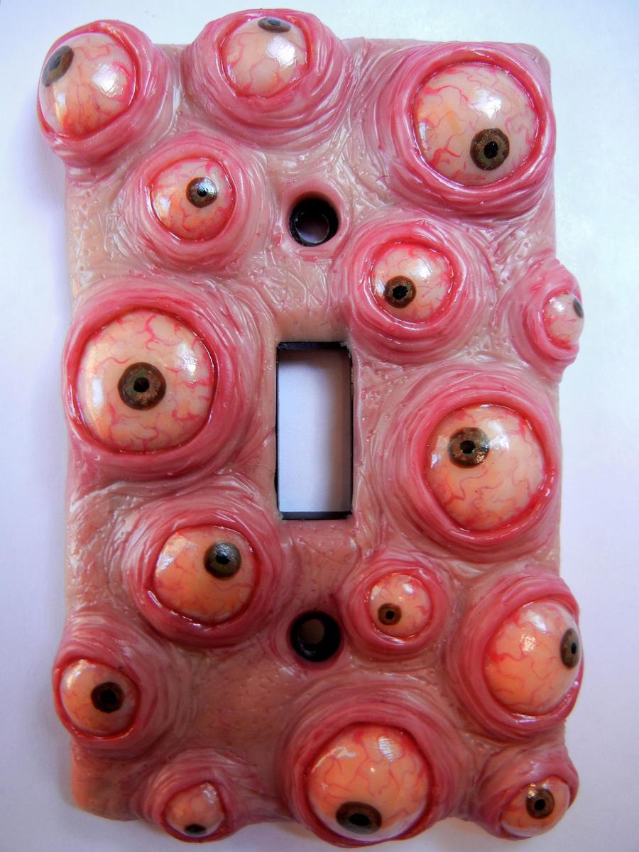 Bulging eyeblob switchplate by dogzillalives