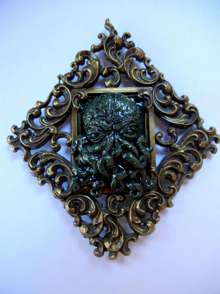 Framed mini Cthulhu