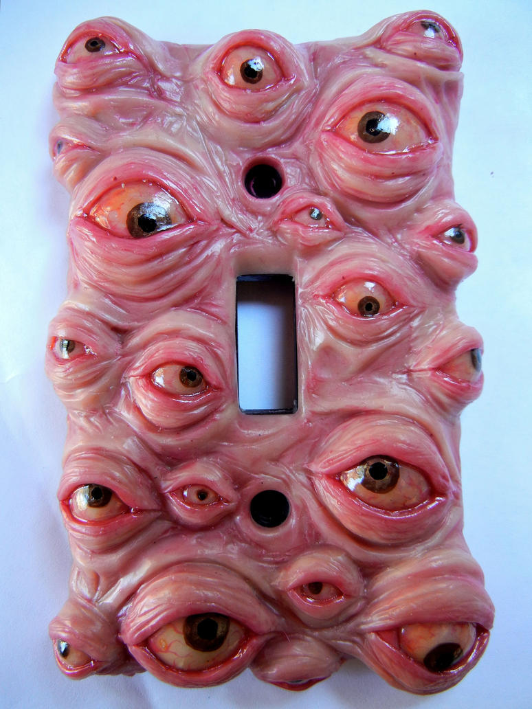 Eyeball switchplate by dogzillalives