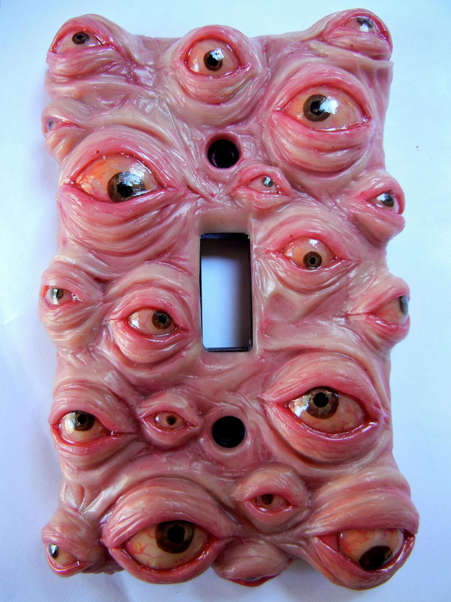 Eyeball switchplate by dogzillalives