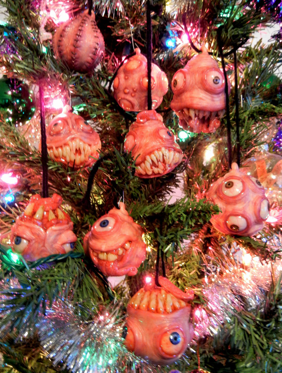 Monster ornaments family photo by dogzillalives