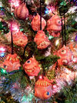 Monster ornaments family photo