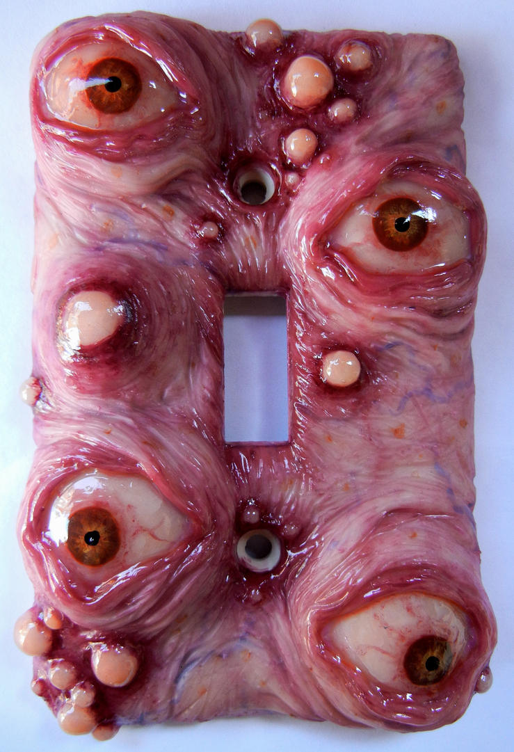 Eye Boil switch plate by dogzillalives