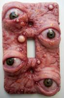 Pizza face switch plate by dogzillalives
