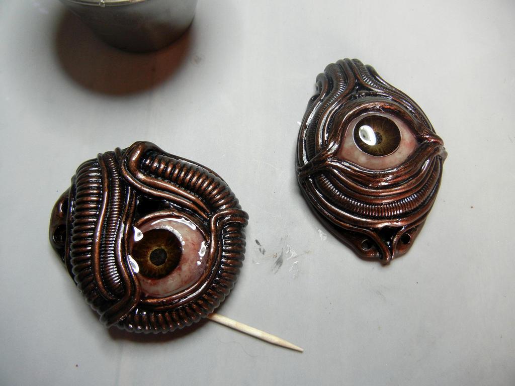 biomech pendants wip by dogzillalives