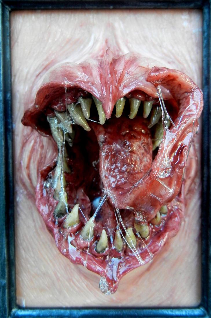 framed monster close up by dogzillalives