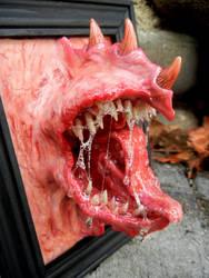 Framed beast mouth by dogzillalives