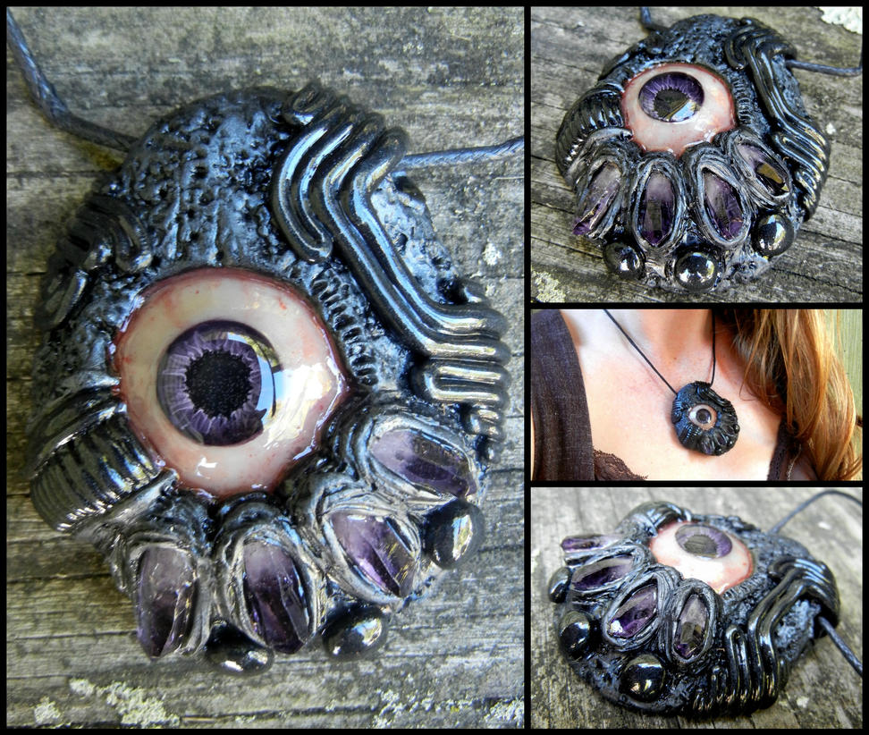 Amethyst biomech eyeball pendant by dogzillalives on deviantart amethyst biomech eyeball pendant by dogzillalives aloadofball Choice Image
