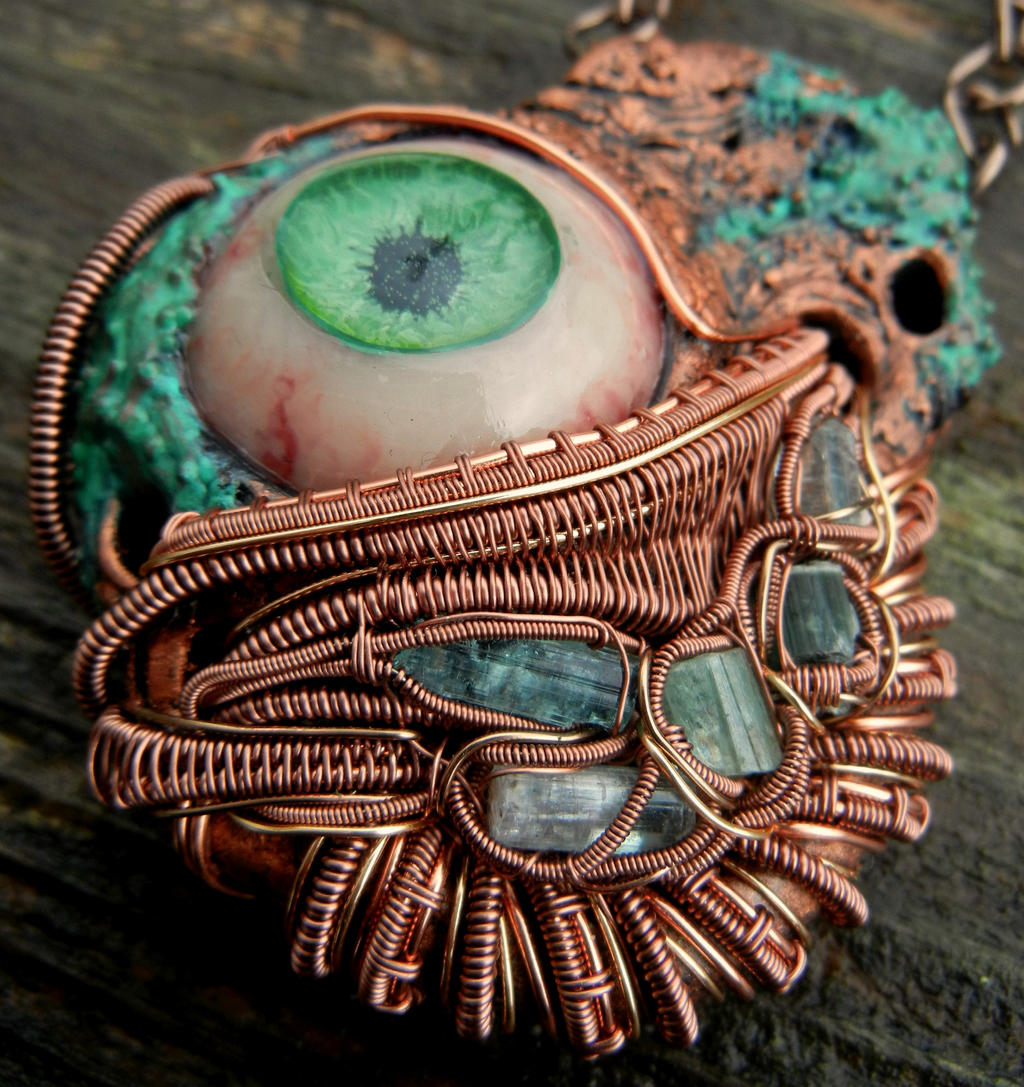 Copper Wire Wrapping Pendants Center Vacuum Forming Diagram Get Domain Pictures Getdomainvidscom Wrapped Polymer Clay Eye Pendant By Dogzillalives On Rh Deviantart Com Identification