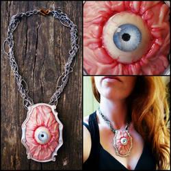 Big gross eyeball necklace, classy by dogzillalives