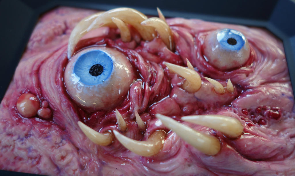 Tooth eye polymer clay sculpture by dogzillalives on DeviantArt
