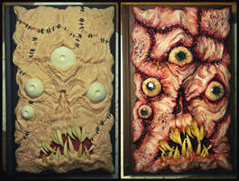 Before and After paint Necronomicon sketchbook