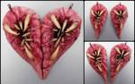 Meat heart bff pendant set