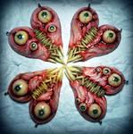 Meat hearts bff pendant sets interlocking teeth
