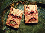 Necronomicon book of the dead polymer clay pendant