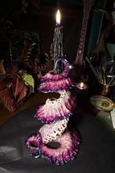 tentacle candlestick holder sculpture