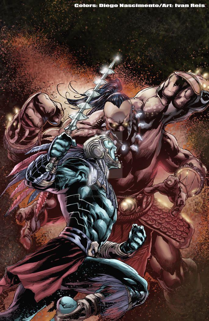 Kotal Khan Vs Goro Mortal Kombat X by DiegoNascimento on