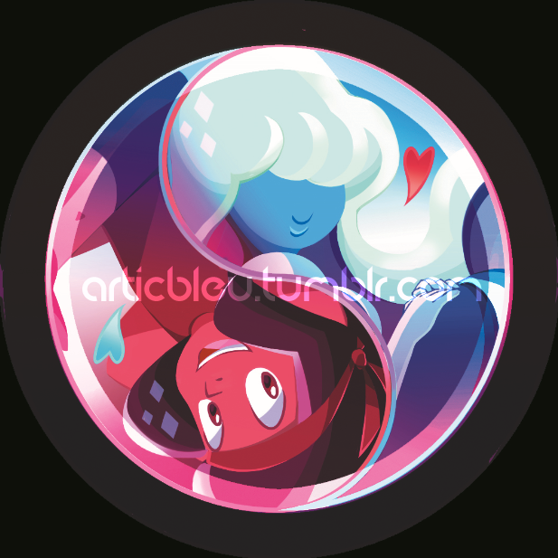 Ruby and Sapphire [Button Available!] by Artic-Blue