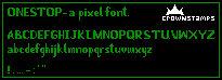 onestop - pixel font