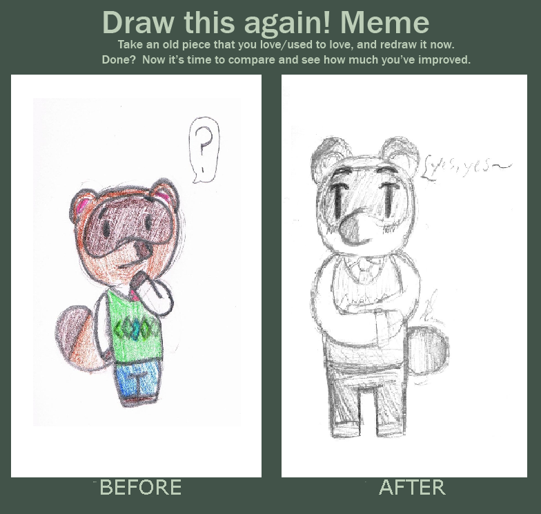 Before And After (Tom Nook) by EllieMcDoodler