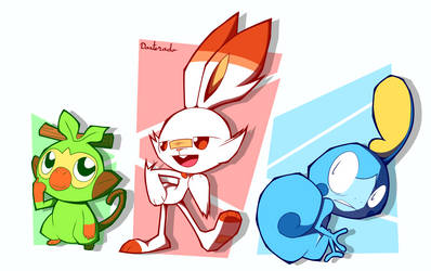 SwordShield Starters by Daxterado