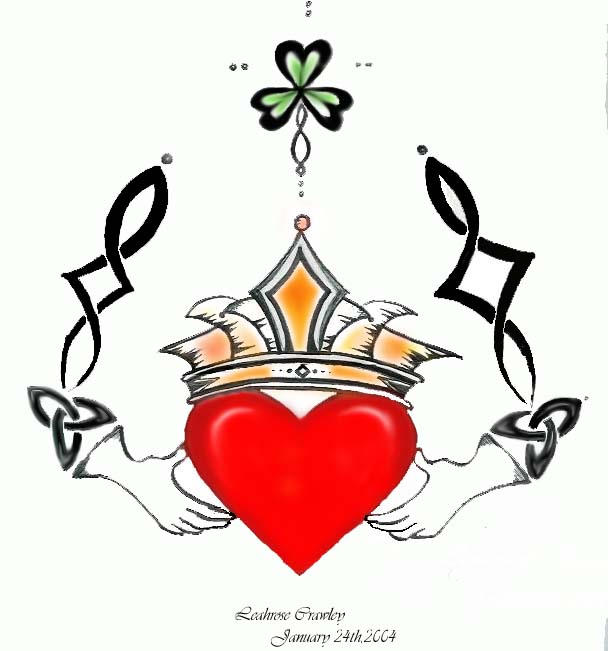 Claddagh ring tat by leahrose on deviantart