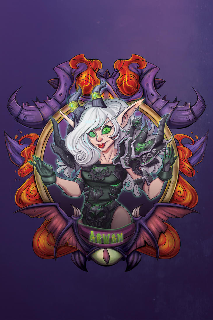 Arwan - Blizzcon Badge- by royalshark