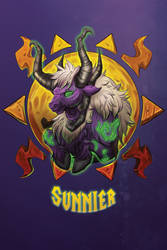 Sunnier -Blizzcon Badge- by royalshark