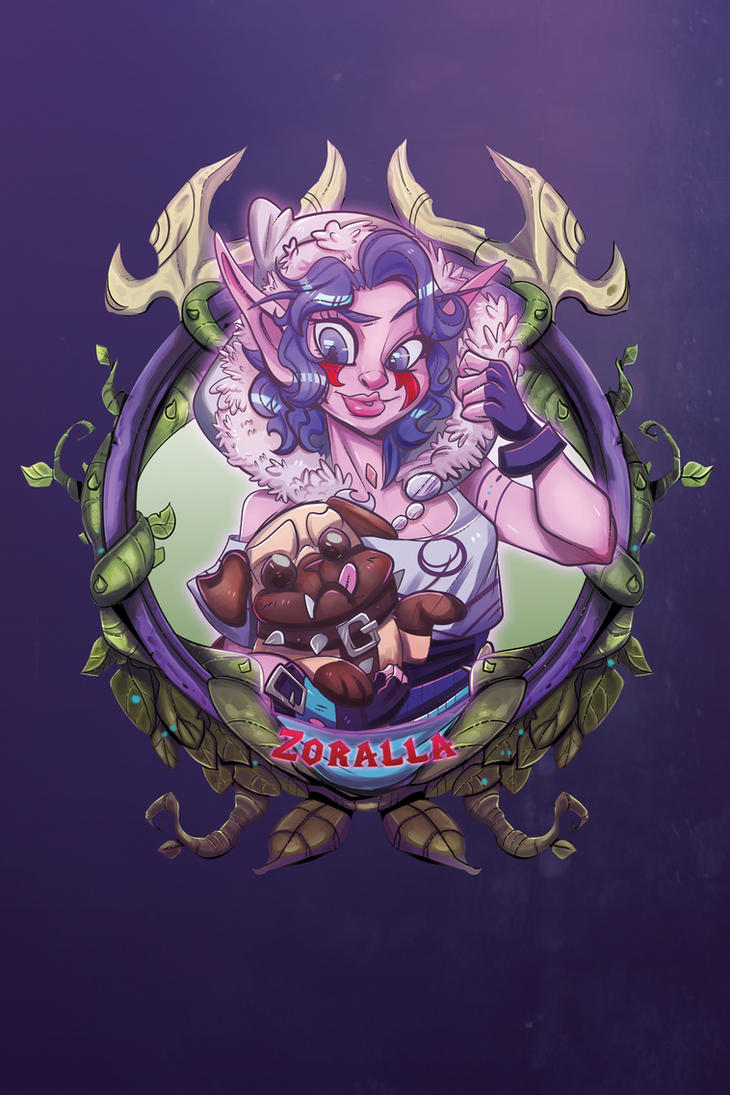 Zoralla -BlizzCon Badge- by royalshark